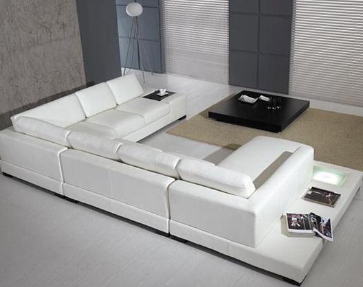 White Leather Sofa Designs