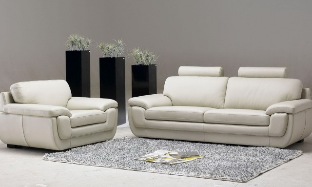 White Leather Sofa Living Room