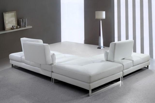 White Leather Sofa Modern