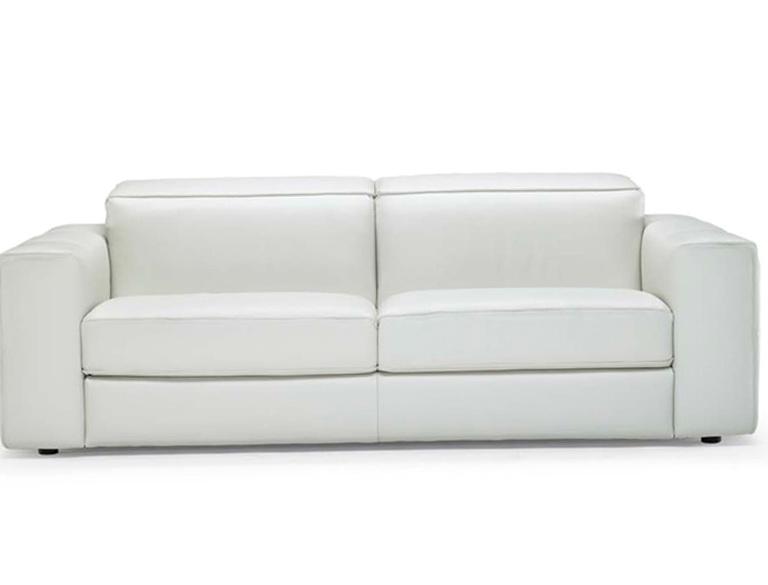 White Natuzzi Leather Sofa
