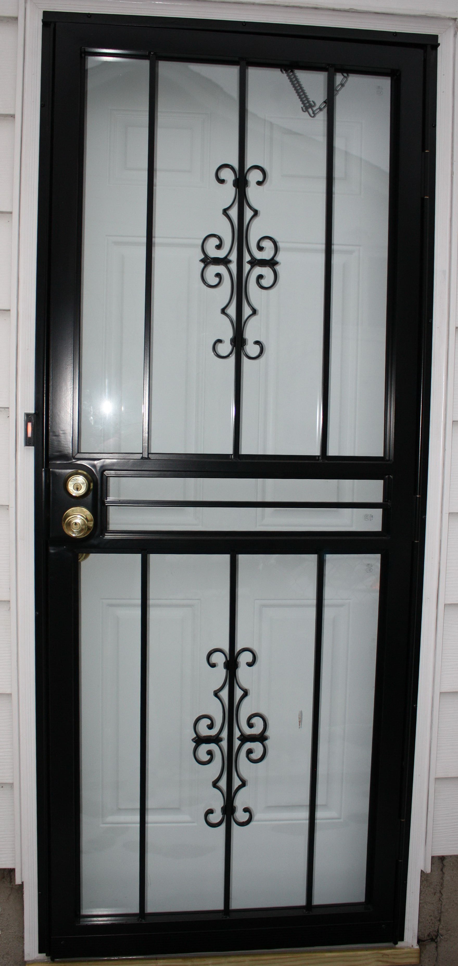 Wrought Iron Security Screen Doors