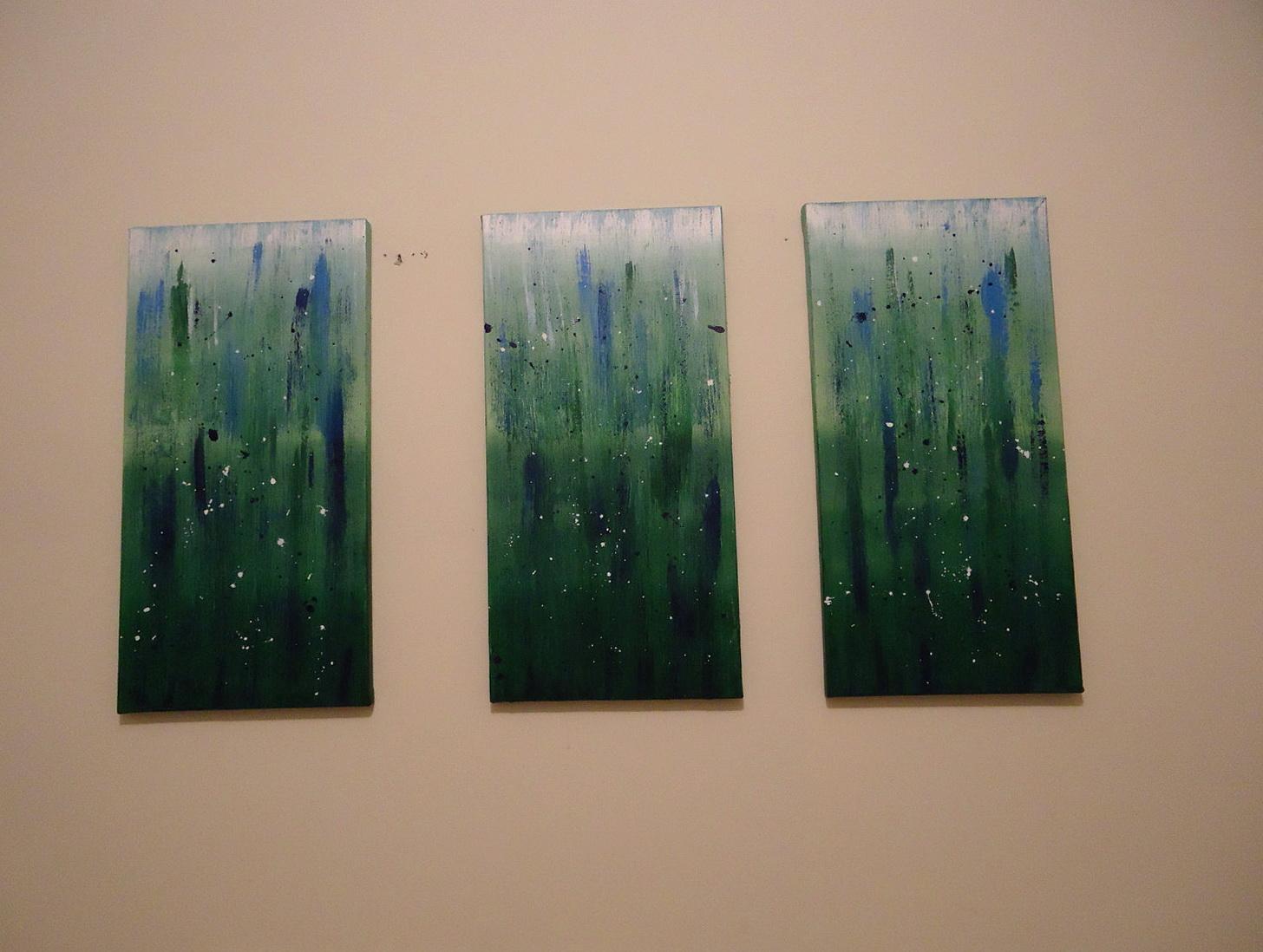 3 Piece Canvas Wall Art Target