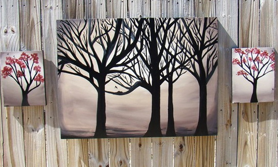 3 Piece Wall Art Tree