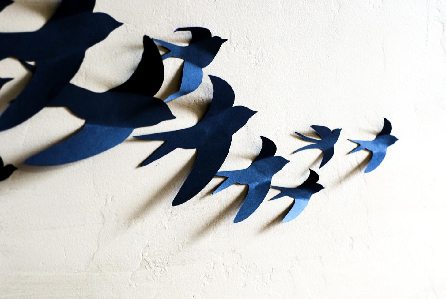 Птички из бумаги своими руками картинки