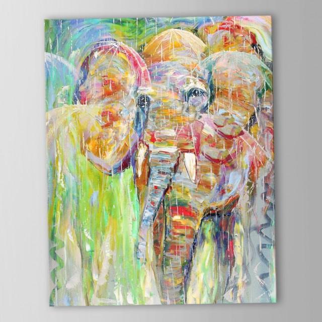 Abstract Elephant Wall Art