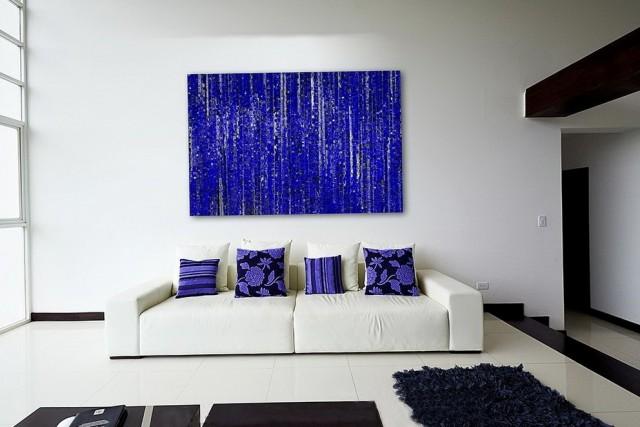 Abstract Wall Art Blue