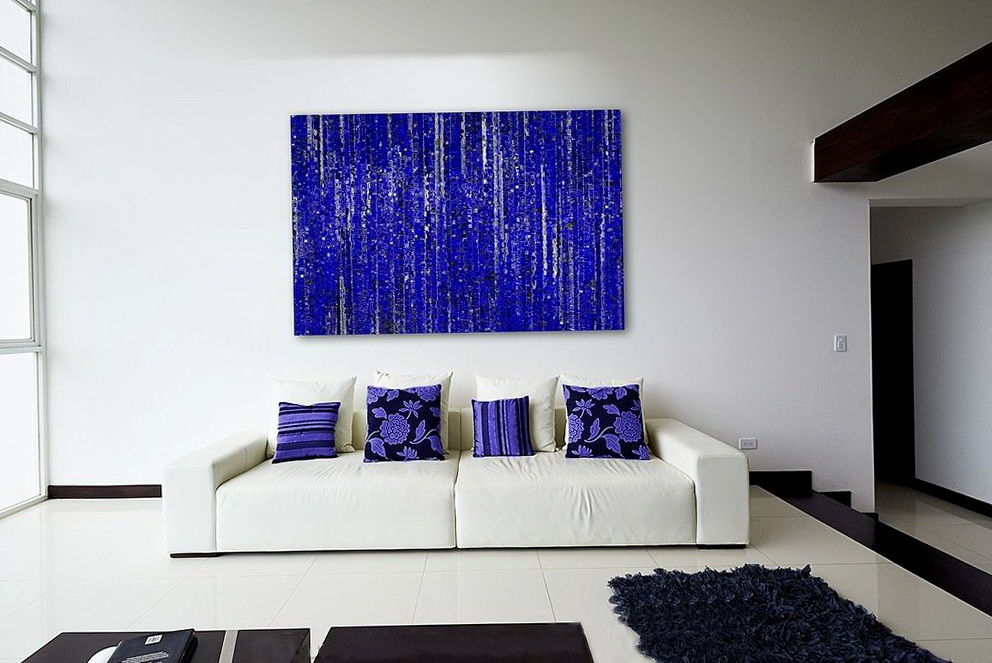 Abstract Wall Art Blue