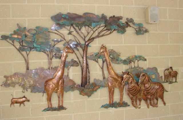 African Copper Wall Art