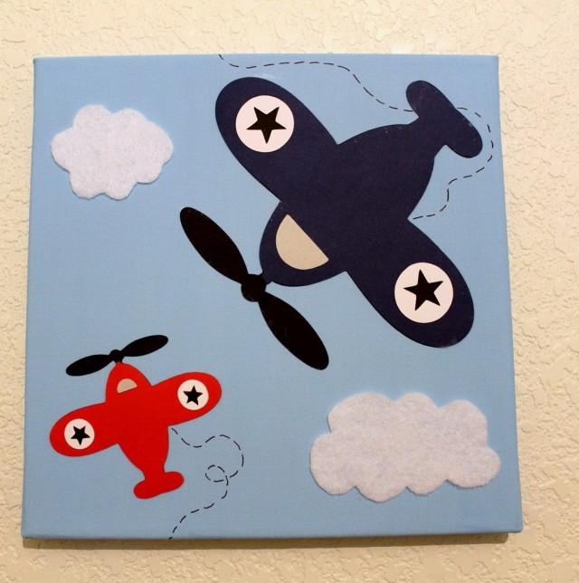 Airplane Wall Art For Nursery