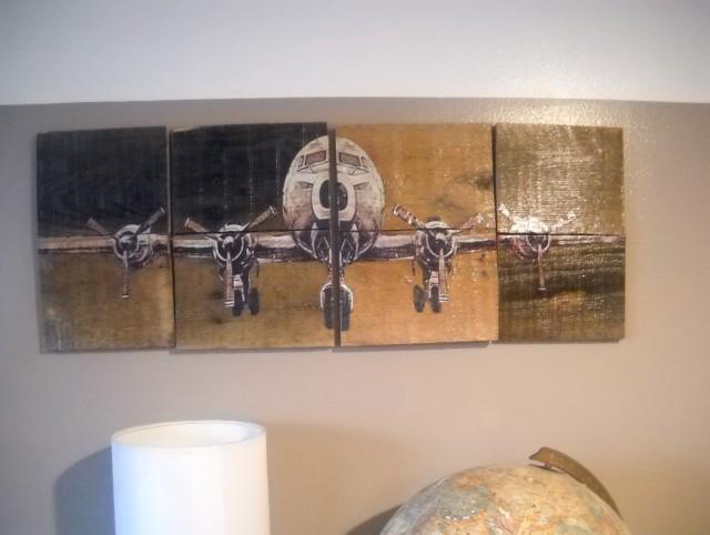 Airplane Wall Art Panels