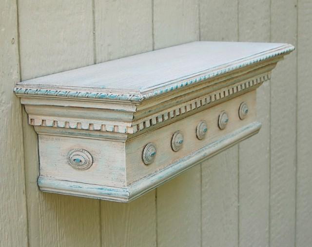 Antique White Wall Shelf