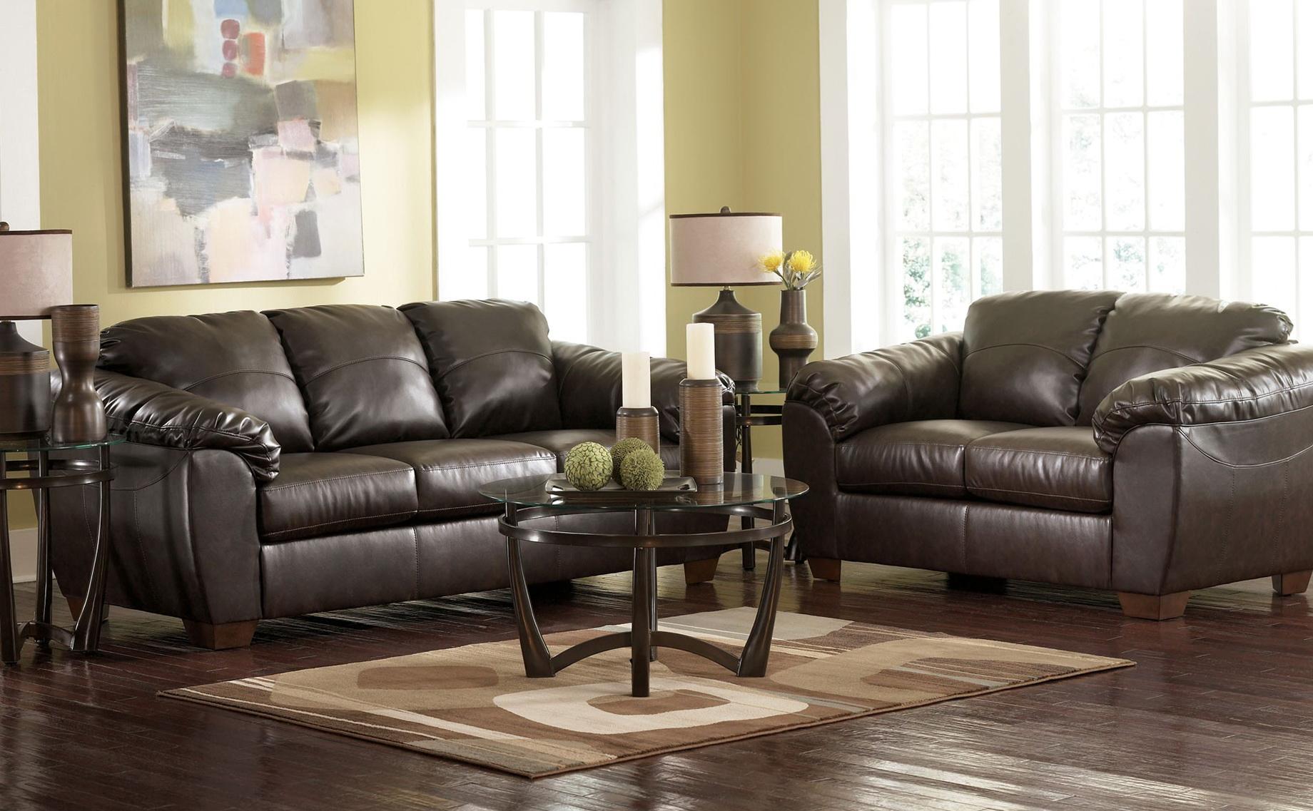 Ashley Bonded Leather Sofa