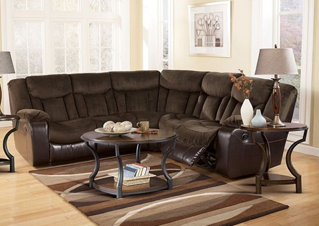 Ashley Tafton Java 2 Piece Reclining Sectional Sofa