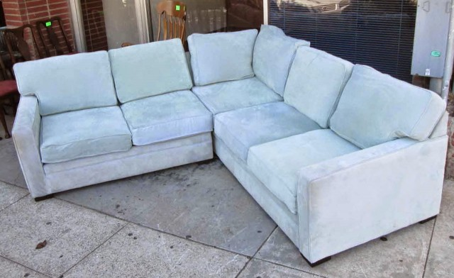 Baby Blue Sectional Sofa