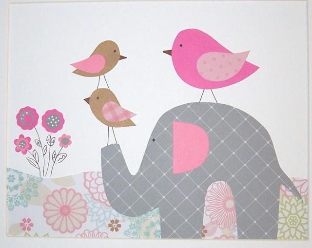 Baby Elephant Wall Art