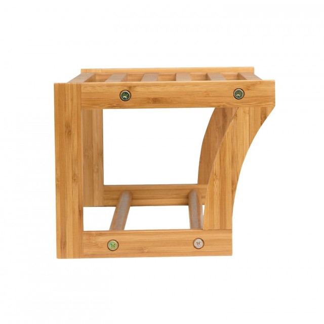 Bamboo Bathroom Wall Shelf