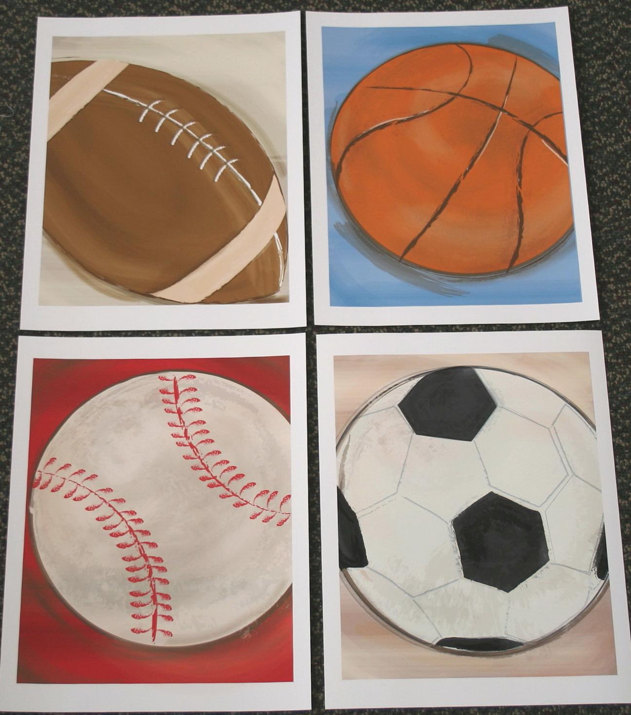 Baseball Wall Art Prints