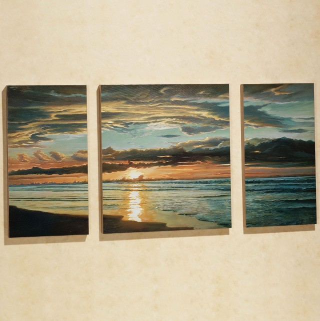 Beach Triptych Wall Art
