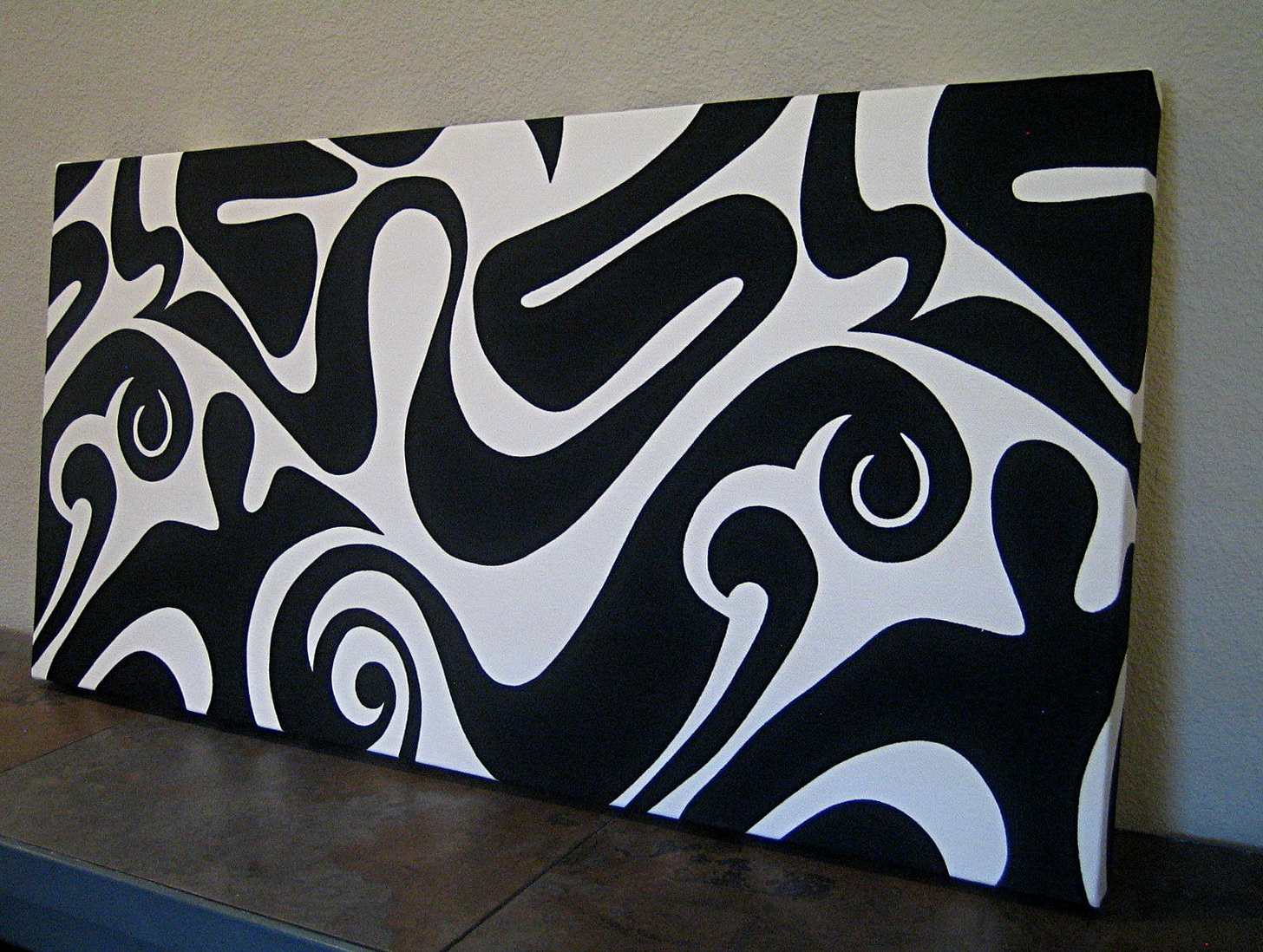 Black And White Wall Art Painting