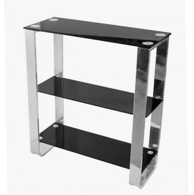 Black Glass Wall Shelf