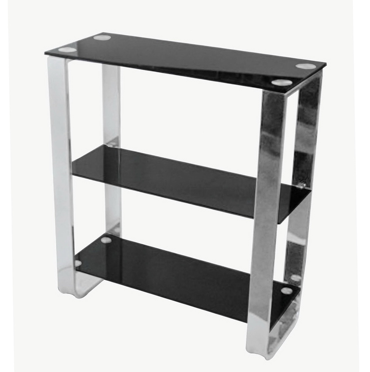 Black Glass Wall Shelf