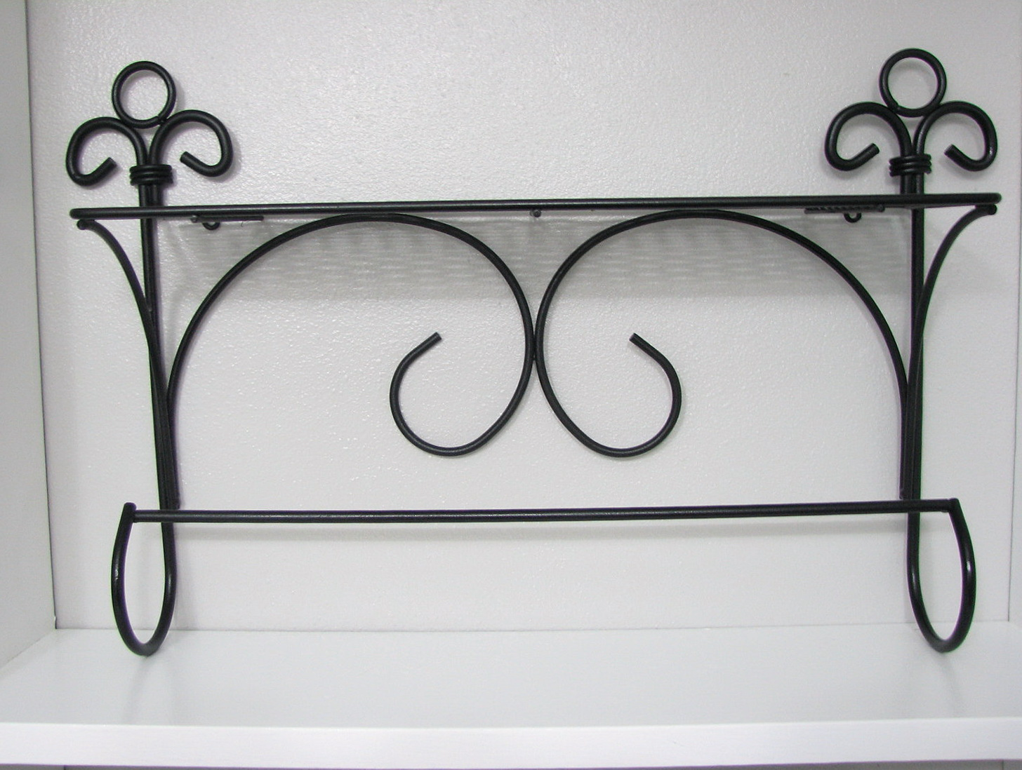 Black Metal Wall Shelf
