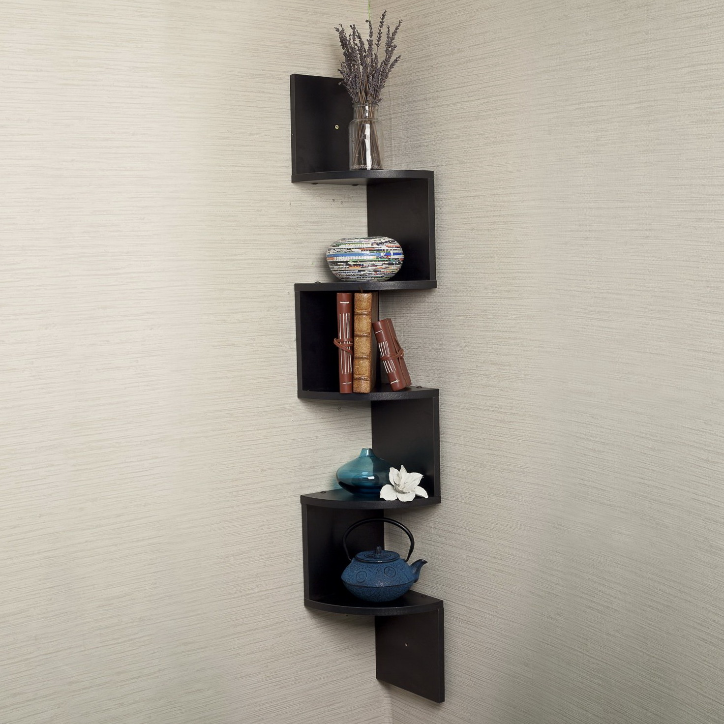 Black Wall Shelf Unit