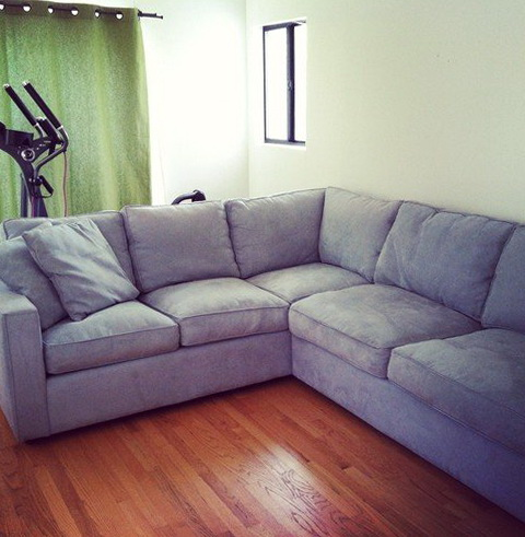 Blue Grey Sectional Sofa