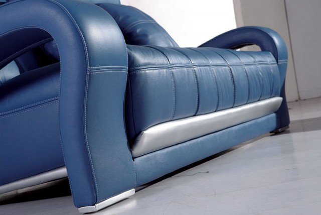 Blue Leather Sofa Sets