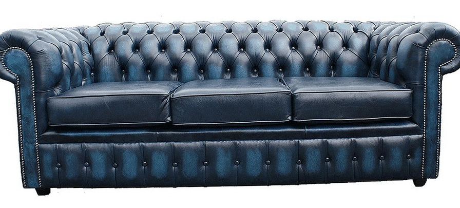 Blue Leather Sofas Uk