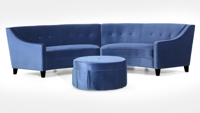 Blue Sectional Sofa With Recliners