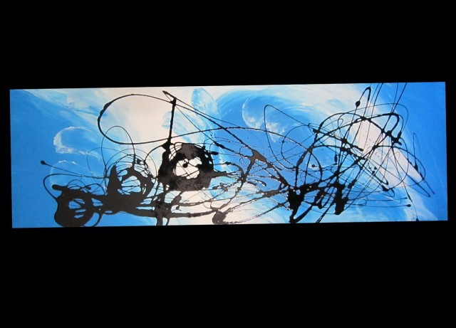 Blue Wall Art Painting