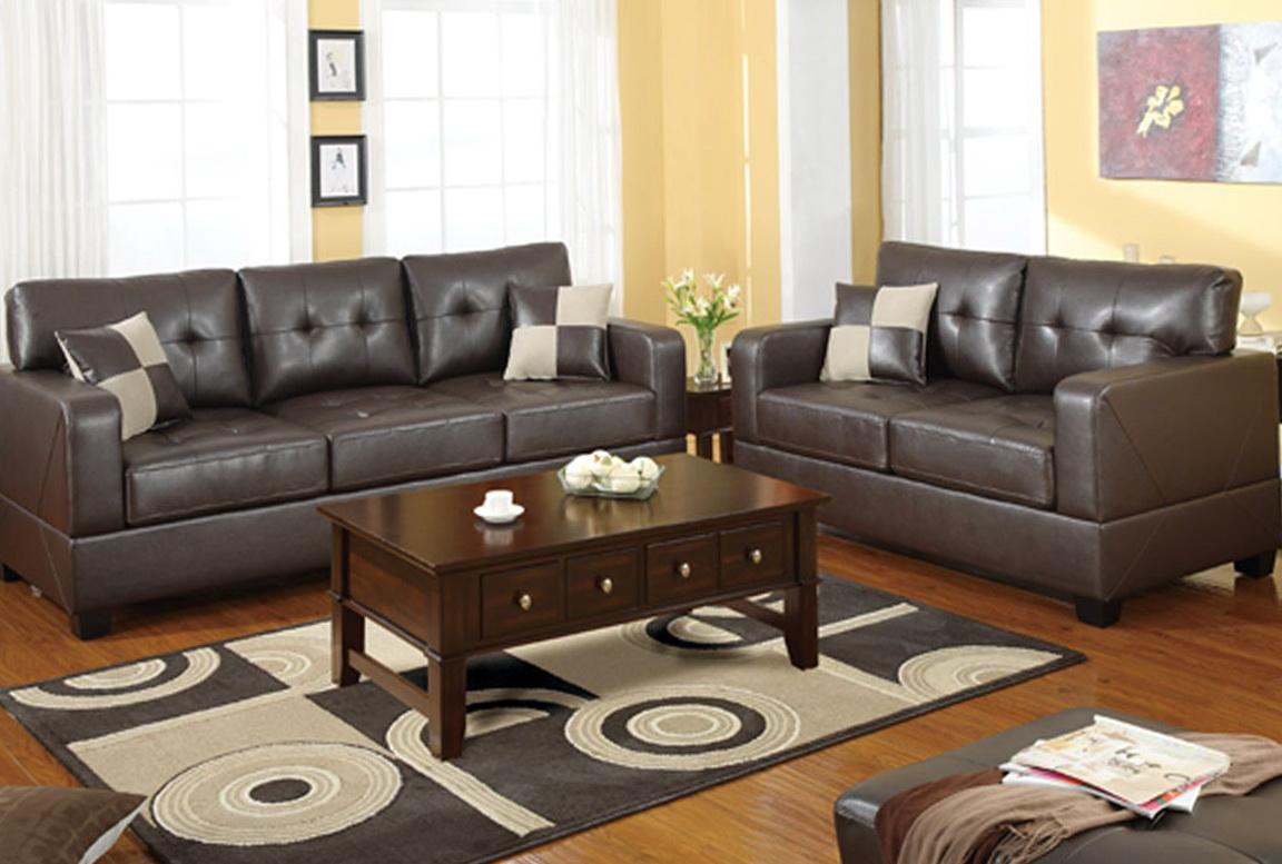 Bonded Leather Sofa Set