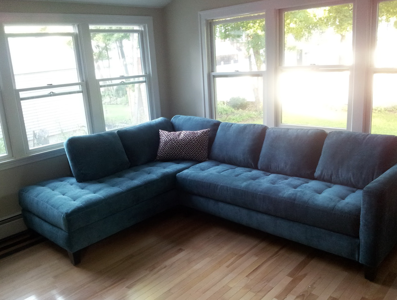 Bright Blue Sectional Sofa