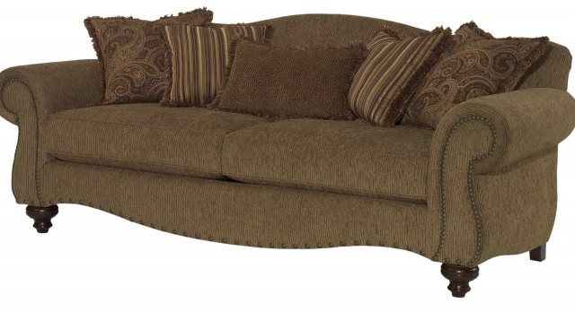 Camel Back Sofa With Rolled Arms