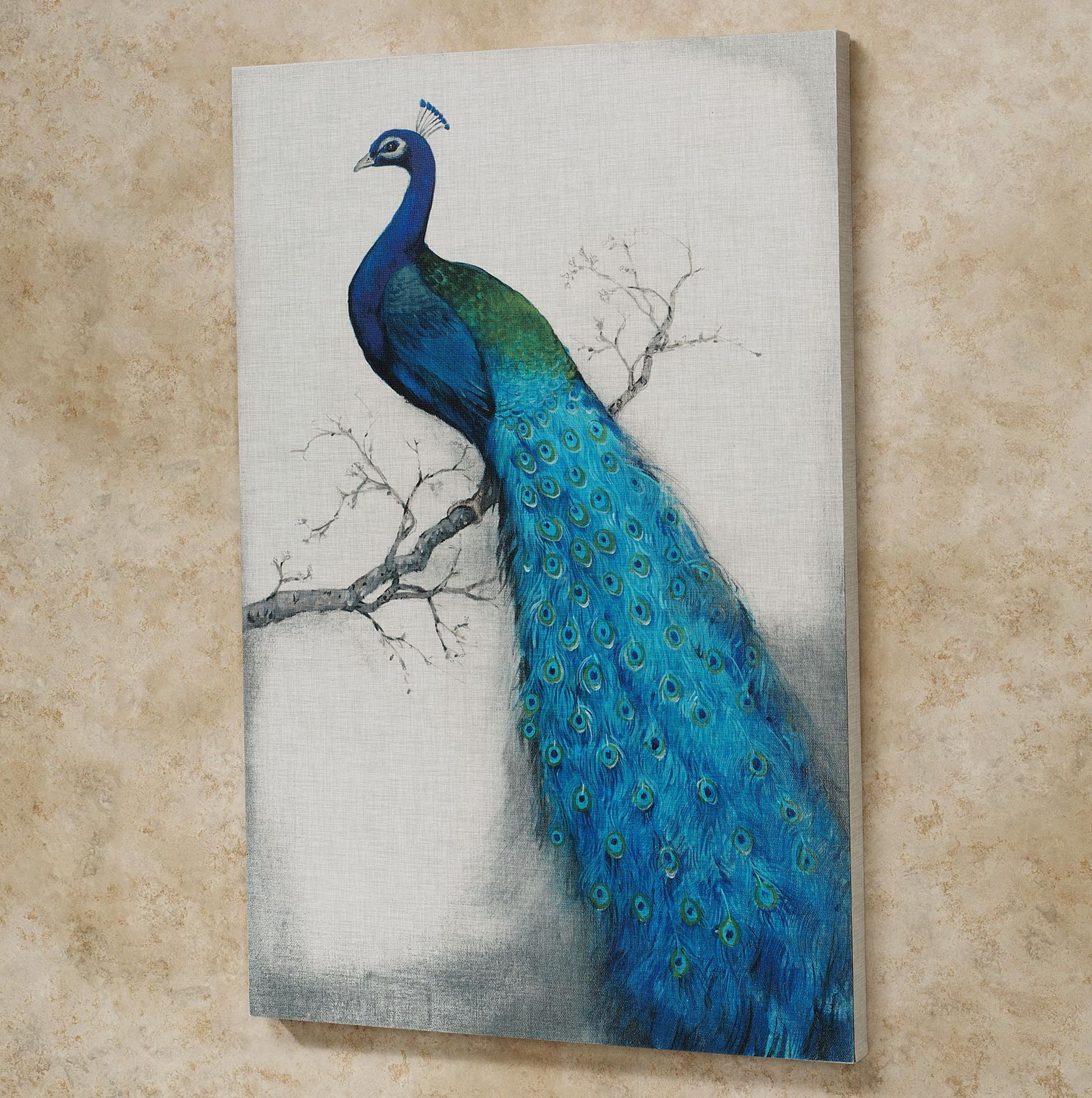 Canvas Peacock Wall Art