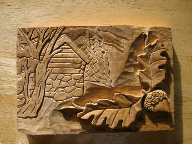 Carved Wood Wall Art Decor