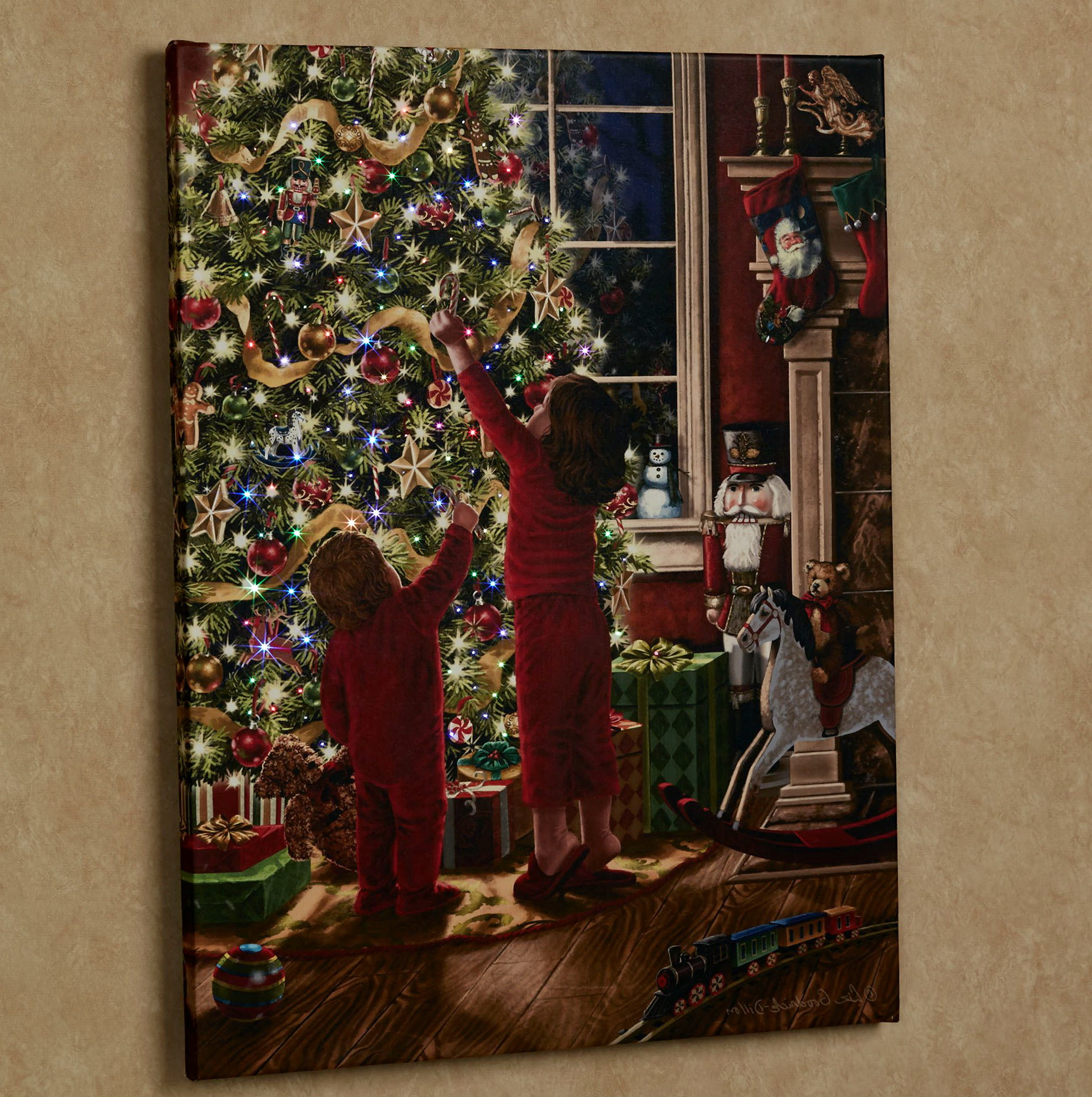 Christmas Lighted Wall Art