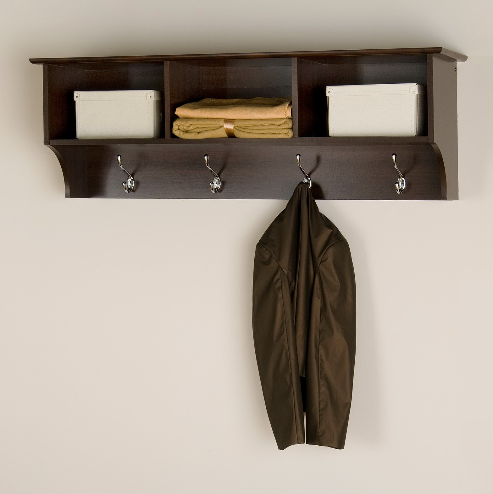 Commercial Wall Mounted Coat Rack With Shelf