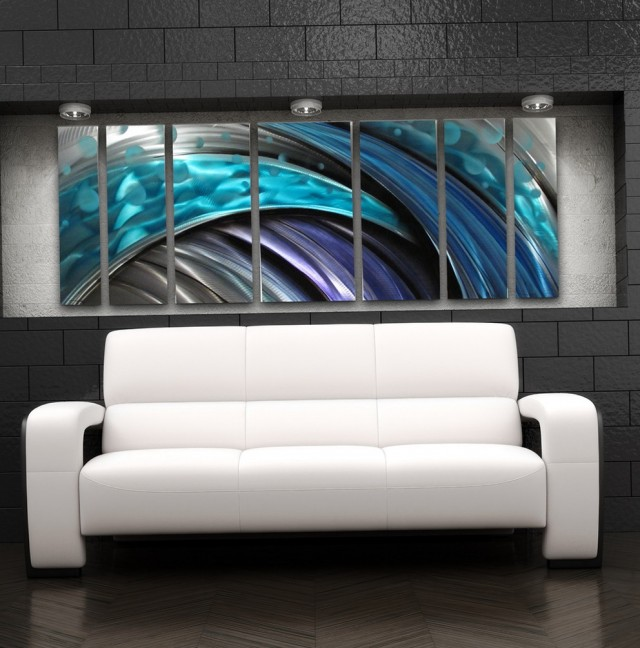 Contemporary Metal Wall Art Flowers
