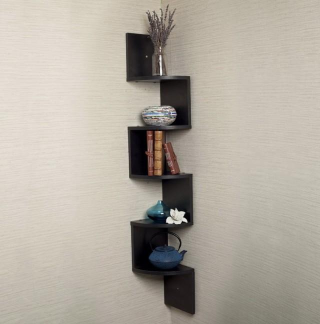 Corner Wall Mount Media Shelf