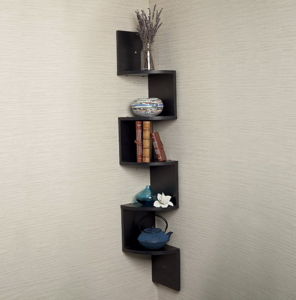 Corner Wall Mount Media Shelf