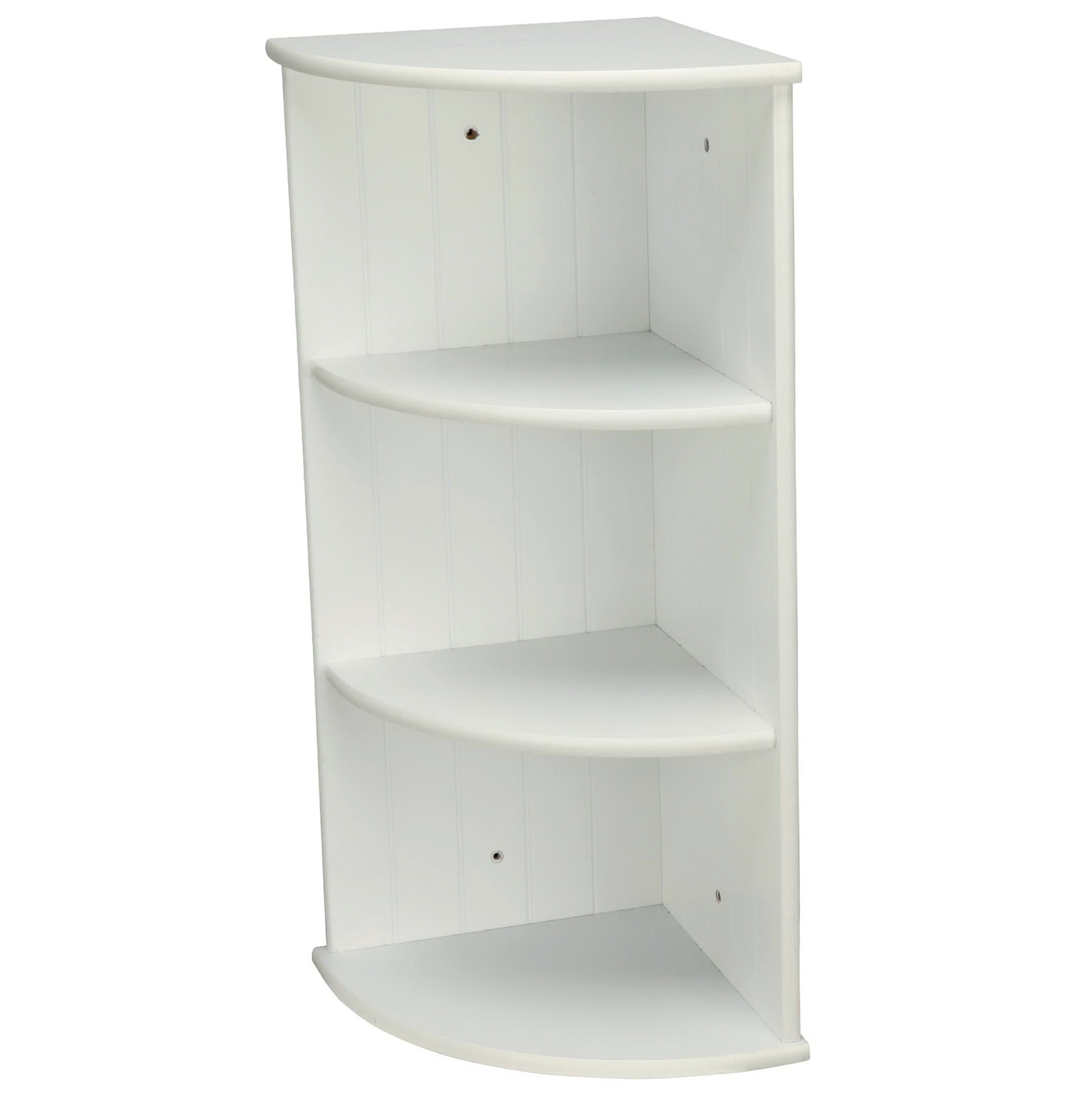 Corner Wall Mount Shelf White