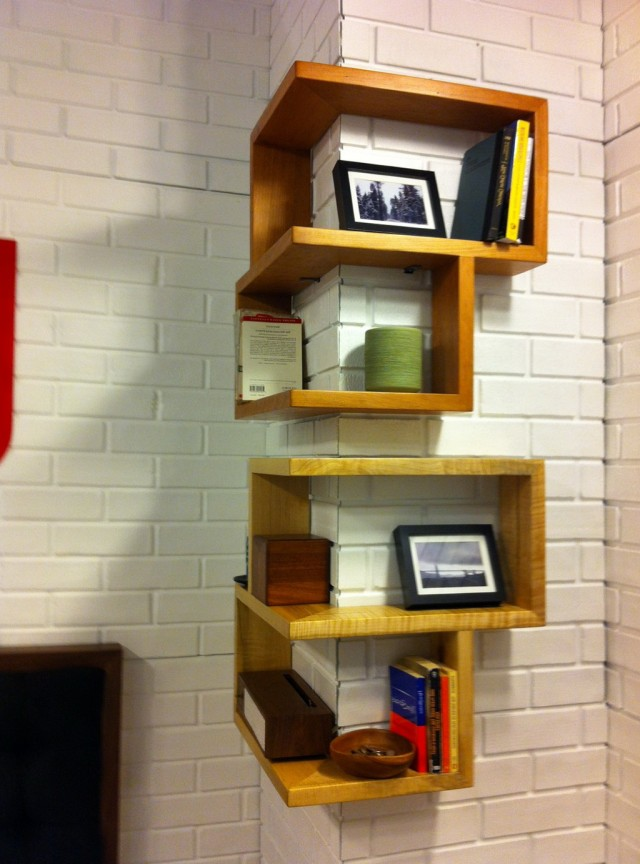 Corner Wall Shelf Wood