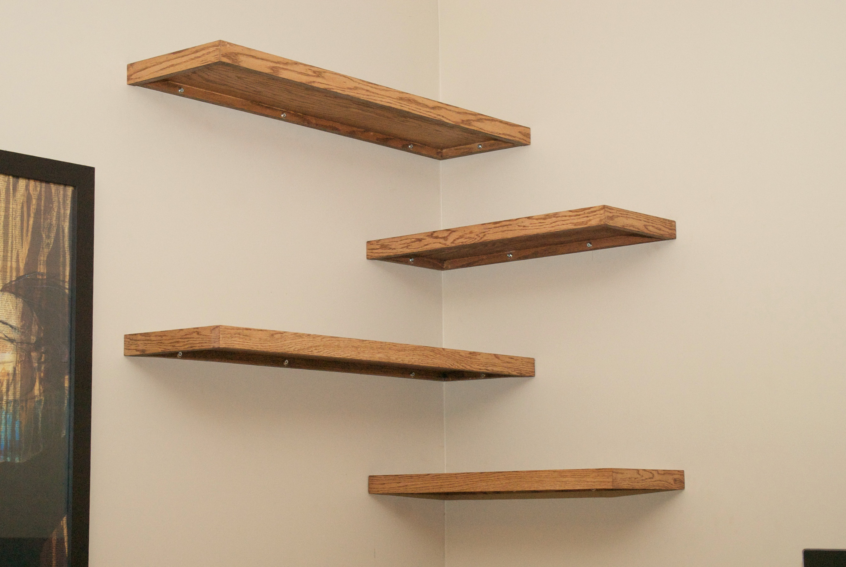 Corner Zig Zag Wall Shelf Diy