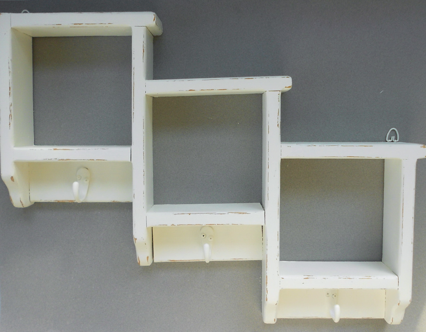Cubby Wall Shelf With Hooks