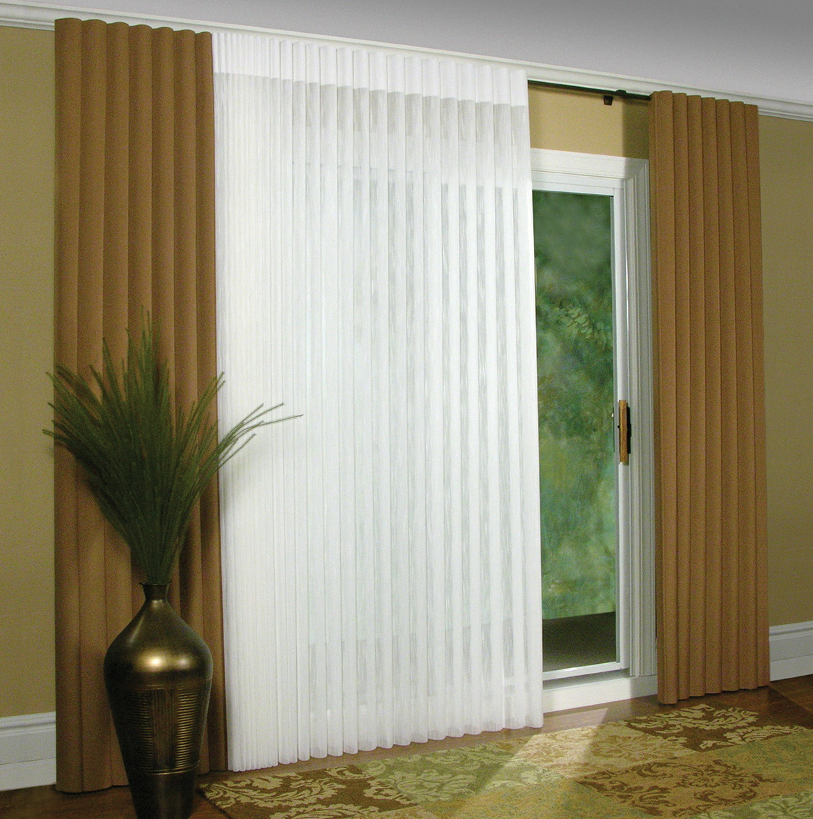 Curtains For Sliding Glass Doors With Vertical Blinds