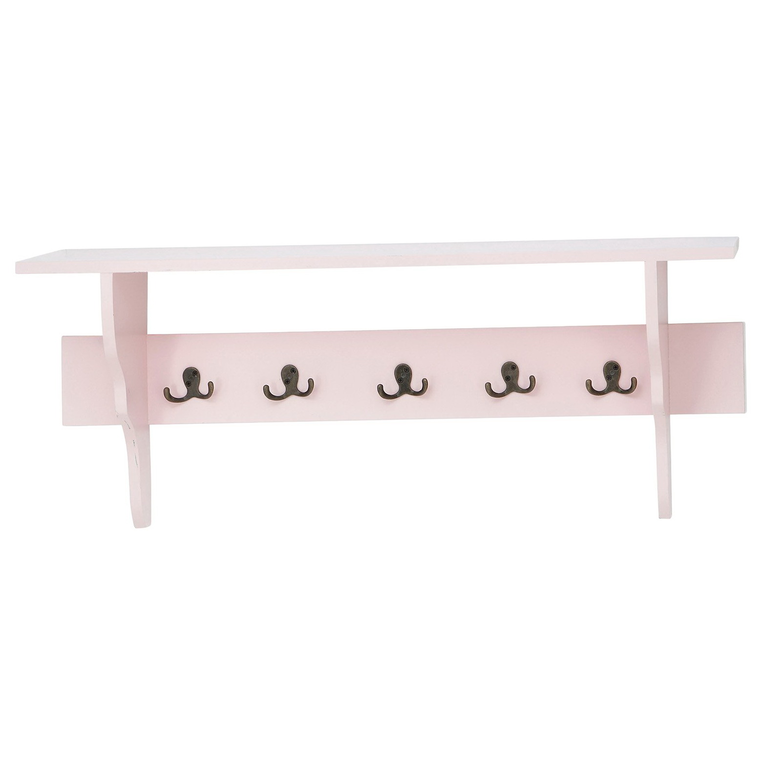 Decorative Wall Shelf With Hooks
