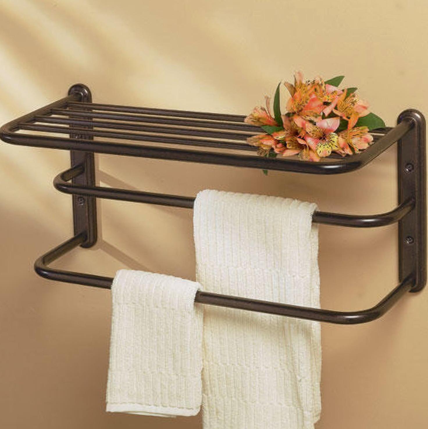 Decorative Wall Shelf With Towel Bar