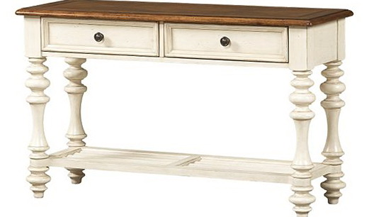 Distressed White Sofa Table